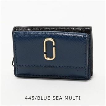 【30%OFF】 import select Musee M0014492 レザー 三つ折り財布 ミニ財布 豆財布 カラー3色 レディース ユニセックス BLUEMULTI / 【import select Musee】 【タイムセール開催中】