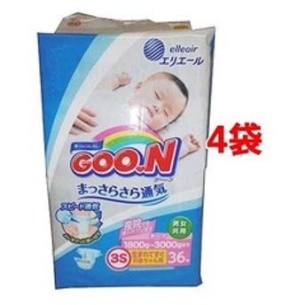 dポイントが貯まる・使える通販| グーン はじめての肌着 生まれてすぐの赤ちゃん用 (36枚入*4コセット) 【dショッピング】 新生児用おむつ おすすめ価格