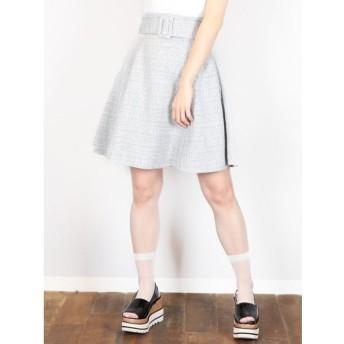 【ダズリン/dazzlin】 【E】スプリングツイードスカート