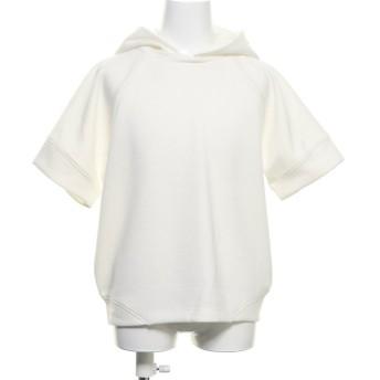 コムサイズム COMME CA ISM フード付き半袖Tシャツ (ホワイト)