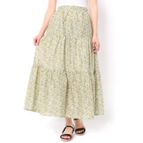 【サマンサモスモス/Samansa Mos2】 花柄ティアードスカート