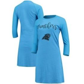 マジェスティック レディース スカート ボトムス Carolina Panthers Majestic Threads Women's Tri-Blend 3/4-Sleeve Raglan Dress Blue