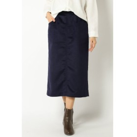 【イッカ/ikka】 ウール混バックボタンタイトスカート