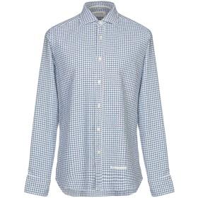 《期間限定セール開催中!》TINTORIA MATTEI 954 メンズ シャツ ブルー 38 コットン 70% / シルク 30%