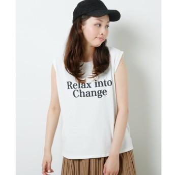 【フレームス レイカズン/frames RAY CASSIN】 空紡糸プリントノースリTシャツ