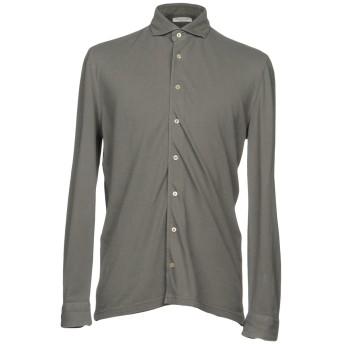 《9/20まで! 限定セール開催中》GRAN SASSO メンズ シャツ 鉛色 58 コットン 100%
