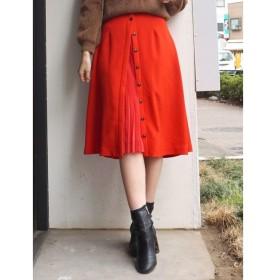 【マーキュリーデュオ/MERCURYDUO】 フロントプリーツ切替スカート