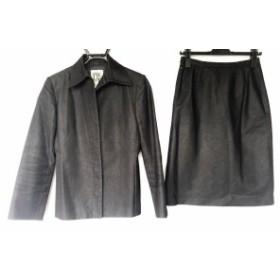 ミッシェルクラン MICHELKLEIN スカートスーツ サイズ40 M レディース ダークグレー【中古】20190713