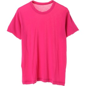 smoothday 80/- コズモラマハイゲージ天竺 Women's C/N T Tシャツ・カットソー,ピンク