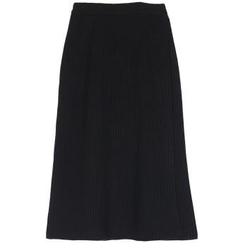ティティベイト titivate ラップロングニットスカート (ブラック)