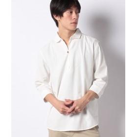 【37%OFF】 ジョルダーノ [GIORDANO]パナマ7分カプリシャツ メンズ ホワイト M 【GIORDANO】 【セール開催中】