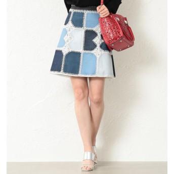 【ラブレス/LOVELESS】 【LOVELESS】WOMEN カギバリ編 ブロッキングインディゴスカート