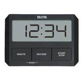 タニタ デジタルタイマー ブラック TANITA ガラスにつくタイマー TD-409-BK 【返品種別A】