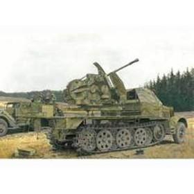 サイバーホビー 【再生産】1/35 ドイツ軍 Sd. Kfz.7/2 装甲8tハーフトラック 3.7cm対空機関砲FlaK43搭載型【CH6553】 プラモデル CH6553 ドイツ ハーフトラック Flak43 【返品種別B】