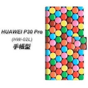 メール便送料無料 docomo HUAWEI P30 Pro HW-02L 手帳型スマホケース 【 448 マーブルチョコ 】横開き (docomo ファーウェイ P30 Pro HW-