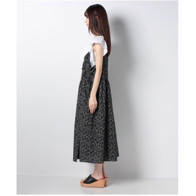 Samansa Mos2 花柄カシュクールキャミワンピース(グリーン)【返品不可商品】