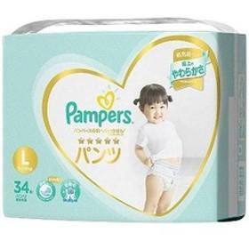 P&G Pampers(パンパース) 肌へのいちばん パンツ スーパージャンボ Lサイズ(9kg-14kg) 34枚〔おむつ〕