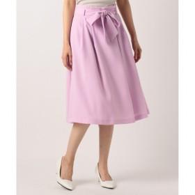 【クミキョク/組曲】 【洗える】ピュアミールジョーゼット ベルト付 スカート