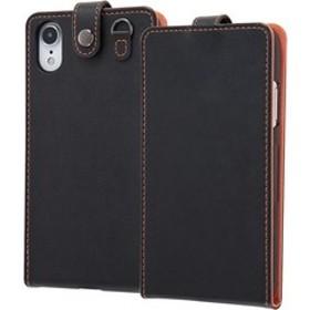 iPhone XR 手帳型ケース スナップボタン縦型 ブラック IN-P18LC1/B (1コ入)