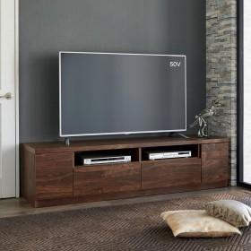 幅が10cm単位で選べるテレビ台 幅150cmダークブラウン