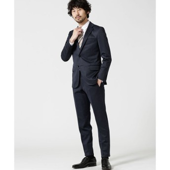 【ナノ・ユニバース/nano・universe】 【WEB限定】スーツ+ジャージーストレッチ+スリム+ネイビー