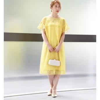 【ティアラ/TIARA】 袖フリルレースドレス