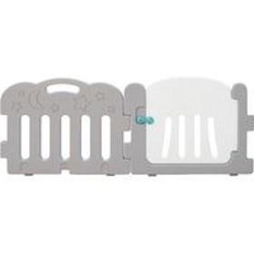 Caraz(カラズ) ベビーサークル オプション ドア付きゲート パネルセット 幅760×厚さ35×高さ600mm グレー 1セット(2枚入)(直送品)