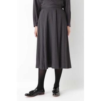 【ヒューマンウーマン/HUMAN WOMAN】 ◆ドットプリントフレアスカート
