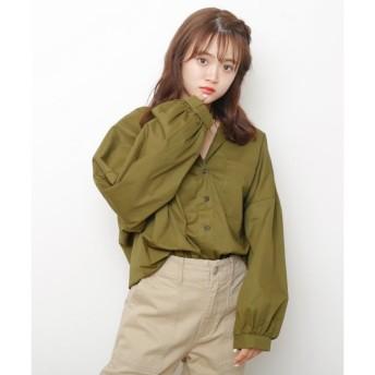 【レイカズン/RAY CASSIN】 袖ボリュームビックシャツ