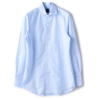 【シップス/SHIPS】 SD: コットン リネン ソリッド ワンピースカラー シャツ(ライトブルー)