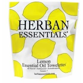 ハーバンエッセンシャルズ HERBAN ESSENTIALS アロマタオル ミニ レモン 7包 【在庫あり】