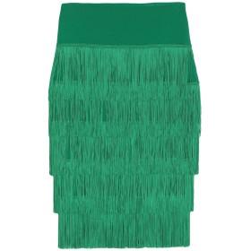 《セール開催中》NORMA KAMALI レディース ひざ丈スカート グリーン XS ポリエステル 95% / ポリウレタン 5%