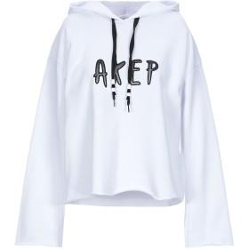 《期間限定 セール開催中》AKEP レディース スウェットシャツ ホワイト 42 コットン 100%