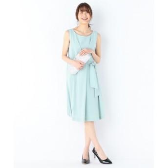 【クミキョク/組曲】 【結婚式やパーティに】バックサテンディティール ドレス