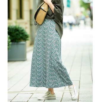 le.coeur blanc / ルクールブラン カラーフラワープリントAラインロングスカート