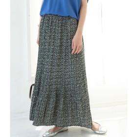 【ビス/ViS】 【WEB限定】花柄プリーツロングスカート