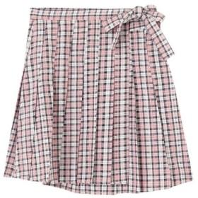 【メリージェニー/merry jenny】 春色チェックプリーツミニスカート