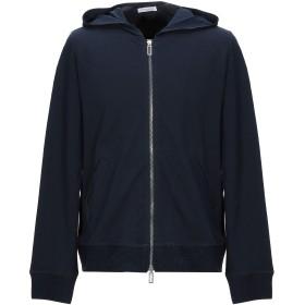《期間限定セール開催中!》PAOLO PECORA メンズ スウェットシャツ ダークブルー S コットン 95% / ポリウレタン 5%