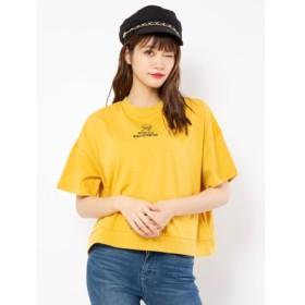 【セシルマクビー/CECIL McBEE】 ハイネック刺繍Tシャツ