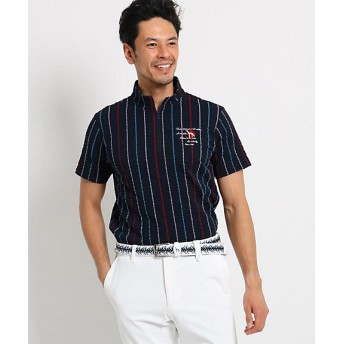 【SALE(三越)】<アダバット/adabat> ストライプハーフジップシャツ メンズ(2001514805) アオ 【三越・伊勢丹/公式】