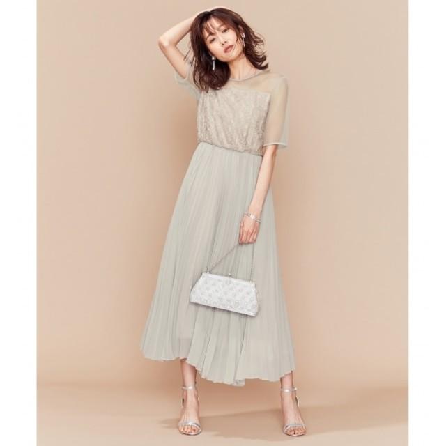【クミキョク/組曲】 【PRIER】ヨーク切り替えプリーツワンピース ドレス