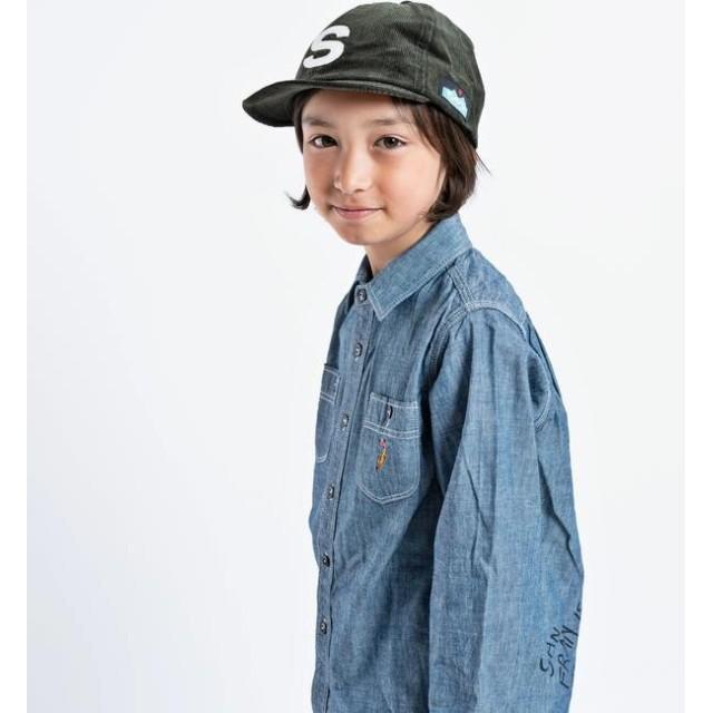 【シップス/SHIPS】 CAL O LINE:【SHIPS KIDS 別注】エンブロイダリー シャンブレー シャツ(S~XL)