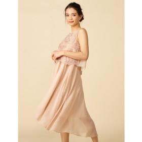 【ロイヤルパーティー/ROYAL PARTY】 レース刺繍ミディアムドレス