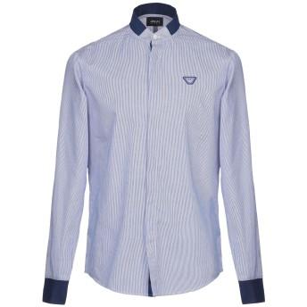 《期間限定セール開催中!》ARMANI JEANS メンズ シャツ ブルー S ポリエステル 97% / ポリウレタン 3%