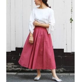 le.coeur blanc / ルクールブラン ペーパーローンタックギャザースカート