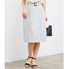 【ロペピクニック/ROPE' PICNIC】 ラップ風ベルト付きスカート