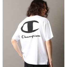 【シップス/SHIPS】 SHIPS JET BLUE×Champion: 別注 リラックス・バックビックロゴTシャツ