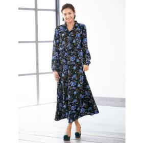 開衿花柄プリントシャツワンピース(FIFTH) (大きいサイズレディース)ワンピース, plus size dress, 衣裙, 連衣裙