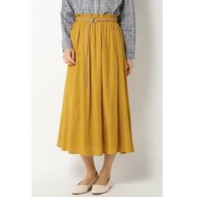 【イッカ/ikka】 麻調合繊ベルト付きスカート