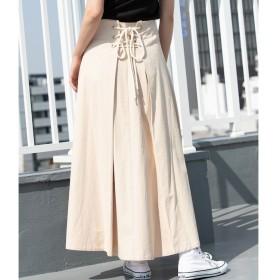 【ビス/ViS】 【WEB限定】バックレースアップロングスカート